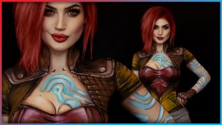 Lilith Borderlands Body Paint Cosplay | Djarii MUA