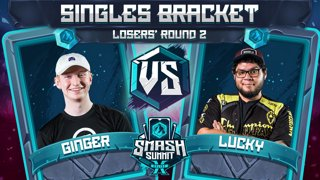 Ginger vs Lucky - Singles Bracket: Losers' Round 2 - Smash Summit 10 | Falco vs Fox