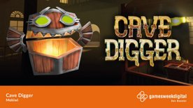 Highlight: THE GAMESWEEKBERLIN is playing #DevBooster. Cave Digger!