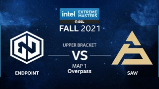 CS:GO - Endpoint vs. SAW [Overpass] Map 1 - IEM Fall Closed Qualifiers 2021 - Europe - Upper Bracket