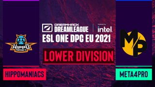 Dota2 - Hippomaniacs vs. Meta4Pro - Game 1 - DreamLeague Season 14 DPC: EU - Lower Division