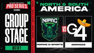 NoPing vs 4 Gringos Game 2 - BTS Pro Series 8 AM: Group Stage w/ rkryptic & neph