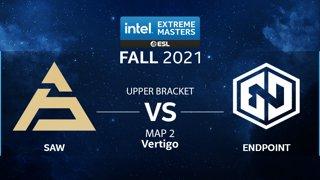 CS:GO - Endpoint vs. SAW [Vertigo] Map 2 - IEM Fall Closed Qualifiers 2021 - Europe - Upper Bracket