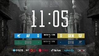 AF vs. GEN - DWG vs. DYN [2020 LCK Summer Split]
