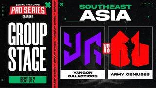 Yangon G vs Army Geniuses Game 1 - BTS Pro Series 8 SEA: Group Stage w/ MLP & johnxfire