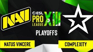 CS:GO - Complexity vs. Natus Vincere [Mirage] Map 2 - ESL Pro League Season 13 - Playoffs