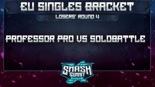 Professor Pro vs Solobattle - EU Singles Bracket: Losers' Round 4 - Smash Summit 10 | Fox vs Puff