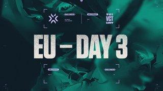 VCT Challengers EU - S1 W2 - Playoffs Day 1