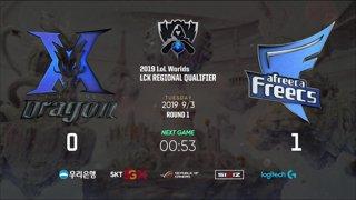 KZ vs. AF   Round 1   LCK Regional Qualifier   KING-ZONE DragonX vs. Afreeca Freecs (2019)