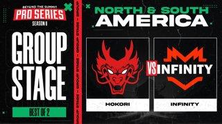 Hokori vs Infinity Game 1 - BTS Pro Series 8 AM: Group Stage w/ rkryptic & neph
