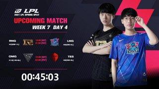 RNG vs. LNG | OMG vs. TES - Week 7 Day 4 | LPL Spring Split (2021)