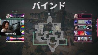vs Mercury バインド 3MAP目 LOWER FINAL [CR CUP VALORANT DAY2]