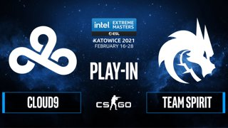 Team Spirit vs Cloud9 - Intel Extreme Masters Season XV - CS:GO