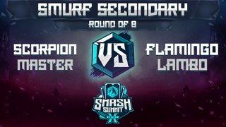 Scorpion Master vs Flamingo Lambo - Smurf Secondary: Ro8 - Smash Summit 10 | Cpt Falcon vs Mario
