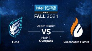 CS:GO - Copenhagen Flames vs. Fiend [Overpass] Map 3 - IEM Fall Closed Qualifiers 2021 - Europe - Upper Bracket