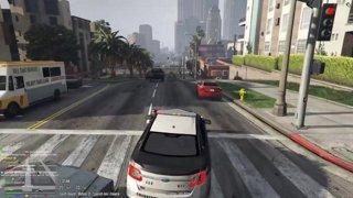 Stolen cop car joins the pursuit