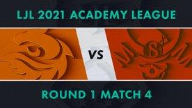 V3.A vs SG.A LJL 2021 Academy League Tournament Round Round 1 Match 4