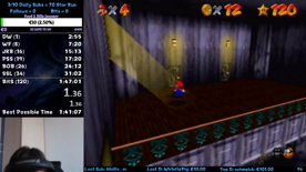 Super Mario 64 SM64 120 Star PB = 1:46:00
