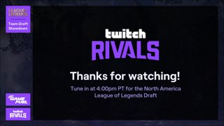 Twitch Rivals: League of Legends Team Draft Showdown III - EMEA