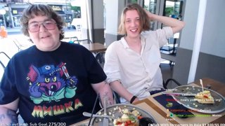 Greece IRL Food with Andy and Canon balls Corfu  | 100bit TTS |