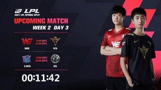 WE vs. V5 | LNG vs.IG  - Week 2 Day 3 | LPL Spring Split (2021)