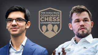 Magnus, Giri, Nepo - FIDE World Corporate Championship w/ hosts Hess and Belenkaya | !corpdonate