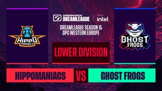 Dota2 - Hippomaniacs vs. Ghost Frogs - Game 1 - DreamLeague S15 DPC WEU - Lower Division