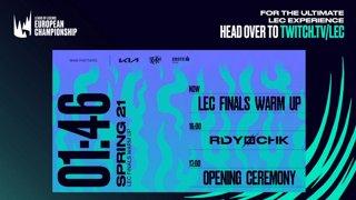 2021 LEC Spring - Finals Warmup Show