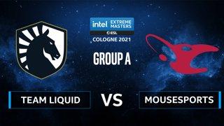 CS:GO - mousesports vs Team Liquid [Dust2] Map 2 - IEM Cologne 2021 - Group A