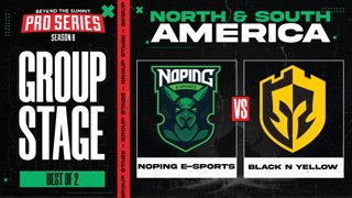 NoPing vs Black N Yellow Game 1 - BTS Pro Series 8 AM: Group Stage w/ rkryptic & neph