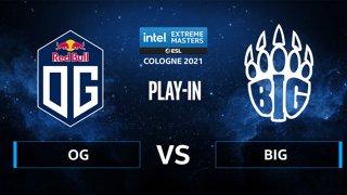 CS:GO - BIG vs OG [Mirage] Map 2 - IEM Cologne 2021 - Play-In
