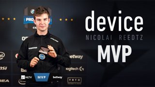 device - HLTV MVP by betway of ESL Pro League Season 8 Finals