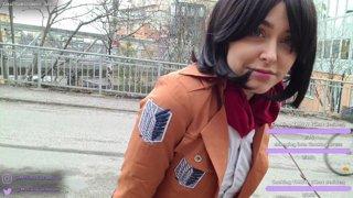 Mikasa Ackerman Cosplay in Stockholm