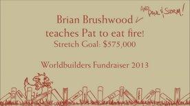 Pat Rothfuss Eats Fire: Worldbuilders 2013