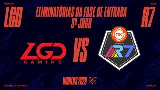 Mundial 2020: Eliminatórias da Fase de Entrada - Dia 1 | LGD Gaming x Rainbow7 (3º Jogo)