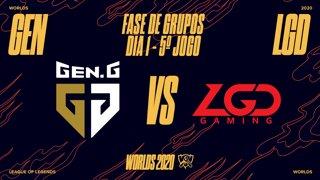 Mundial 2020: Fase de Grupos - Dia 1 | Gen.G Esports x LGD Gaming (5º Jogo)