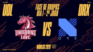 Mundial 2020: Fase de Grupos - Dia 1 | Unicorns of Love x DRX (2º Jogo)