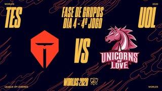 Mundial 2020: Fase de Grupos - Dia 4 | Top Esports x Unicorns of Love (4º Jogo)