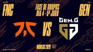 Mundial 2020: Fase de Grupos - Dia 4 | Fnatic x Gen.G Esports (5º Jogo)