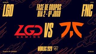 Mundial 2020: Fase de Grupos - Dia 2 | LGD Gaming x Fnatic (6º Jogo)