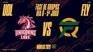 Mundial 2020: Fase de Grupos - Dia 8 | Unicorns of Love x FlyQuest (5º Jogo)