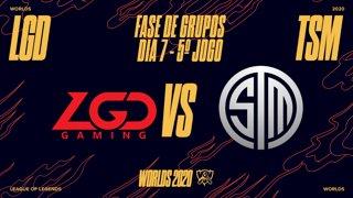 Mundial 2020: Fase de Grupos - Dia 7 | LGD Gaming x TSM (5º Jogo)