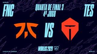 Mundial 2020: Quarta de Final 3 | Fnatic x Top Esports (4º Jogo)