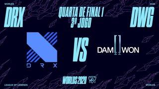 Mundial 2020: Quarta de Final 1 | DRX x DAMWON Gaming (3º Jogo)