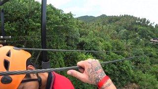 Riding Ziplines in Koh Samui