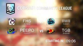 [RERUN] Community League FHS vs IIWII & PEEPO vs TGB
