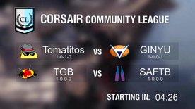 [RERUN] Community League Tomatitos vs GINYU & TGB vs SAFTB