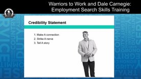 Warriors to Work and Dale Carnegie: Employment Search Skills Training