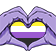 NonBinaryPride emoticon medium resolution download link