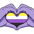 NonBinaryPride emoticon large resolution download link
